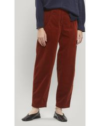 Oska Cajsa Chord Trousers - Red