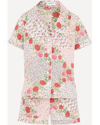 Liberty Talitha Tana Lawn' Cotton Short Pyjama Set - Multicolour