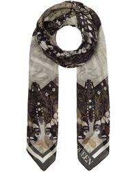 Alexander McQueen Pareo Tattoo Butterfly Scarf - Multicolour