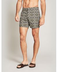 Liberty Strawberry Thief Tailored Swim Shorts - Green
