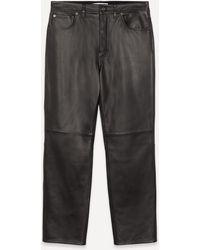 Acne Studios Lancelot Leather Trousers - Black