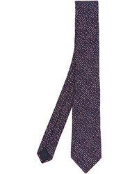 Lanvin - Irregular Scribbed Pattern Tie - Lyst