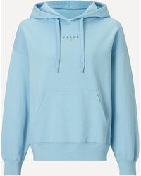 Maison Labiche Peace 'n' Love Organic Cotton Hoodie - Blue