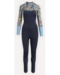 Roxy Marine Bloom 3/2mm Front Zip Wetsuit - Blue