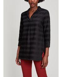 Piazza Sempione - Tonal Stipe Shirt - Lyst