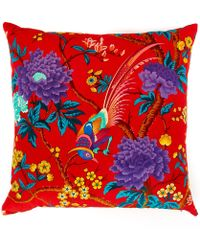 Liberty Elysian Paradise Velvet Cushion - Red