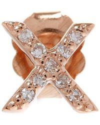 KC Designs - Rose Gold Diamond X Single Stud Earring - Lyst