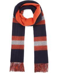Johnstons Stripe Cashmere Merino Wool Blend - Blue
