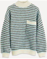 Stine Goya Nalin High-neck Wool-blend Jumper - Multicolour