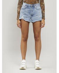 Agolde Parker Vintage Cut-off Denim Shorts - Blue