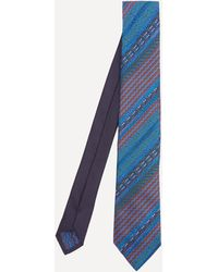 Missoni Stripe Silk Tie - Blue