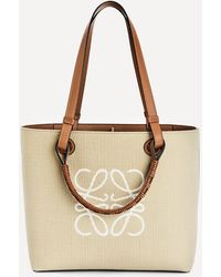 Loewe Small Anagram Jacquard Canvas And Leather Tote Bag - Multicolour