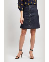 A.P.C. Therese Button-down Denim Skirt