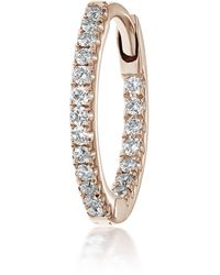"Maria Tash 3/8"" Diamond Front-facing Eternity Hoop Earring - Metallic"