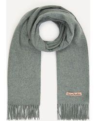 Acne Studios Canada New Wool Scarf - White