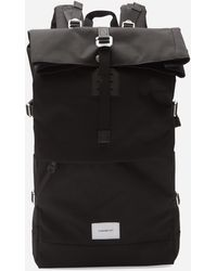 Sandqvist Bernt Cordura Roll Top Backpack - Black