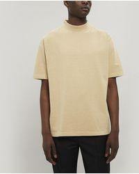 Lemaire Mock-neck Heavy Cotton T-shirt - Multicolour