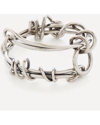 Alexander McQueen Knotted Wire Bracelet - Metallic