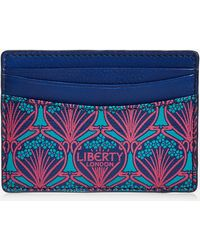 Liberty Card Holder In Iphis Canvas - Blue