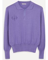 Paloma Wool Rafael Zip-neck Jumper - Purple