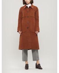 Acne Studios Orein A-line Wool Coat - Brown