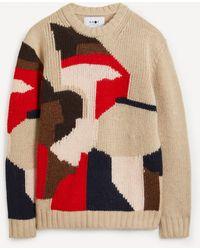 NN07 Brady 6417 Intarsia-knit Jumper - Red