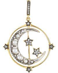 Annoushka Mythology 18ct Gold Pearl Spinning Moon Charm - Metallic