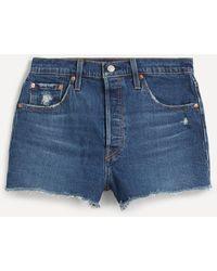 Levi's Original 501 Cut-off Denim Shorts - Blue