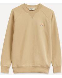 Maison Kitsuné Fox Head Patch Sweatshirt - Natural