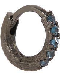 Annoushka - 18ct Rhodium-plated White Gold Dusty Diamonds Hoop Earring - Lyst