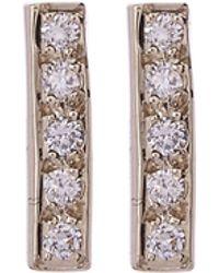 Satomi Kawakita - Small Diamond Bar Stud Earrings - Lyst