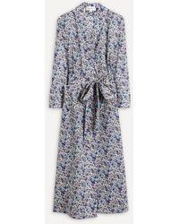 Liberty Rachel Tana Lawntm Cotton Robe - Blue