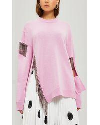 Christopher Kane Squiggle Cupchain Sweatshirt - Pink