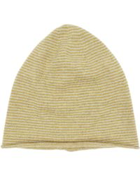 CASH CA - Cashmere Stripe Beanie Hat - Lyst
