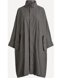 Eskandar Lightweight Raincoat - Grey