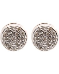 Monica Vinader - Rose Gold-plated Fiji Button Diamond Stud Earrings - Lyst