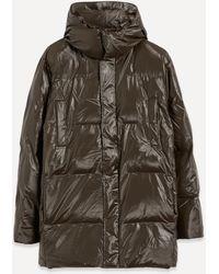 Rains Puffer Hooded Coat - Multicolour