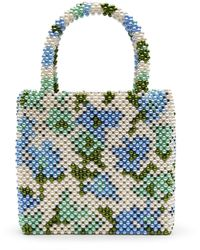 Shrimps X Liberty Faux Pearl Beaded Handbag - Blue