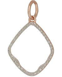 Monica Vinader Rose Gold Vermeil Diamond Riva Hoop Pendant - Metallic