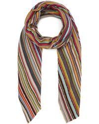 Paul Smith Signature Stripe Textured Scarf - Multicolour