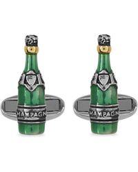 Paul Smith Champagne Bottle Cufflinks - Green