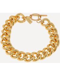 Kenneth Jay Lane Gold-plated Curb Chain Bracelet - Metallic
