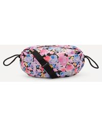 Ganni Recycled Tech Fabric Drawstring Shoulder Bag - Multicolour