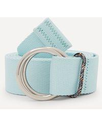 Ganni Webbing Belt - Blue