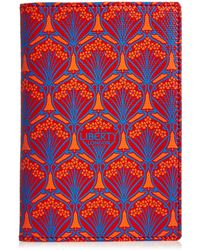Liberty Passport Holder In Iphis Canvas - Red