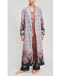 Liberty Renee Tana Lawn Cotton Robe - Blue