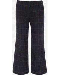 MASSCOB Segall Checked Pants - Blue
