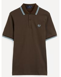 Fred Perry M12 Twin-tipped Shirt - Brown