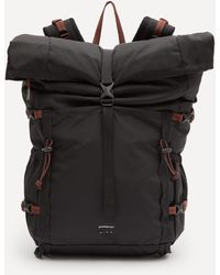 Sandqvist Forest Hike Recycled-nylon Roll-top Backpack - Black