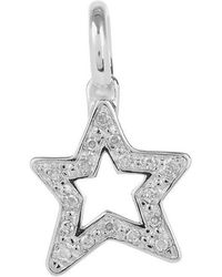 Monica Vinader Silver Alphabet Diamond Star Pendant - Metallic